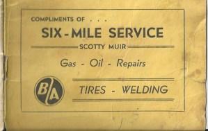 Six Mile Service ad