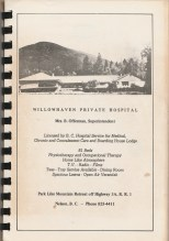 Willowhaven ad in St. Andrew's-by-the-Lake cookbook-1971
