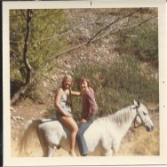 Shelley Richards and Danny Bainbridge - around 1970. Duhamel Riding Club. Shelley Richards collection
