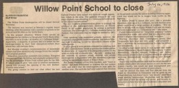 Willow Point School closure-July 1986 NDN