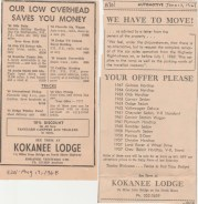 Car sales at Kokanee Lodge-NDN Clippings 1968/1969