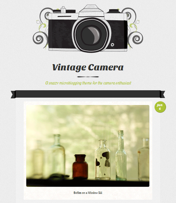 vintage camera theme screenshot