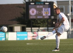 Weymouth Midfielder Jake McCarthy scores free-kick against Slough Town
