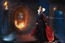 Alec Baldwin and Olivia Wilde as The Magic Mirror and The Queen