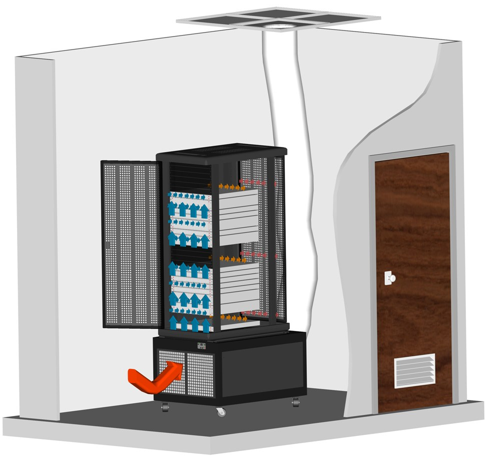 air conditioned server cabinets
