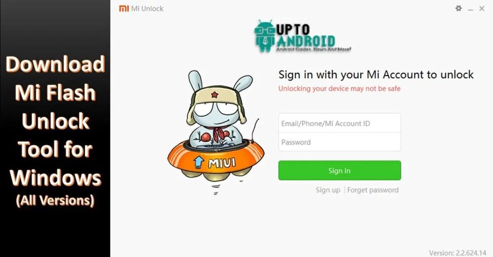 Download Mi Flash Unlock Tool for Windows (All Versions)
