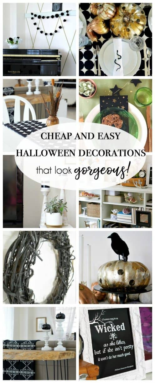 Cheap And Easy Halloween Decorations Up To Date Interiors
