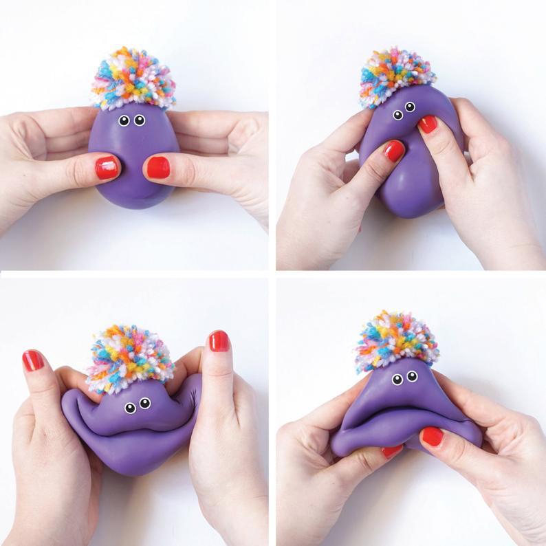 Bonecos sensoriais para apertar e brincar