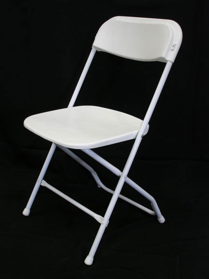 Folding Chair Basic White  Uptown Rentals