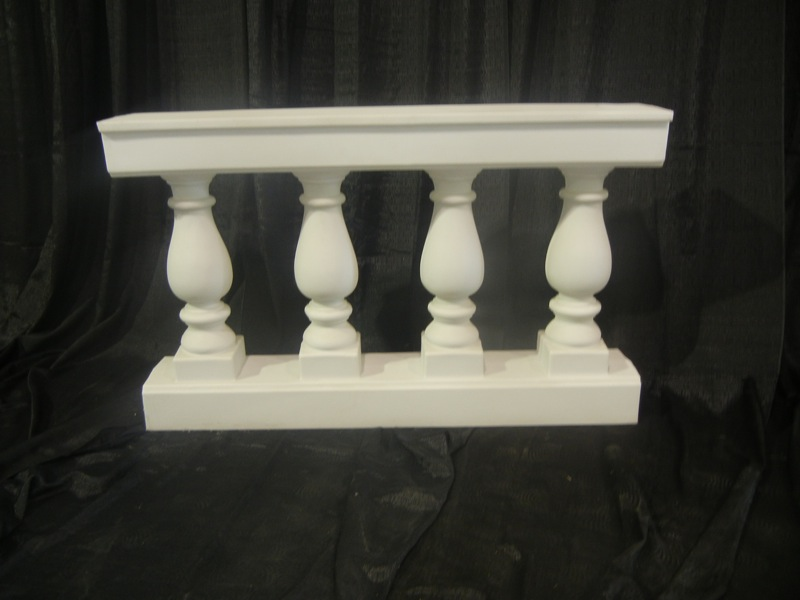 white leather bar chair therapeutic wobble roman, balustrade four post - uptown rentals