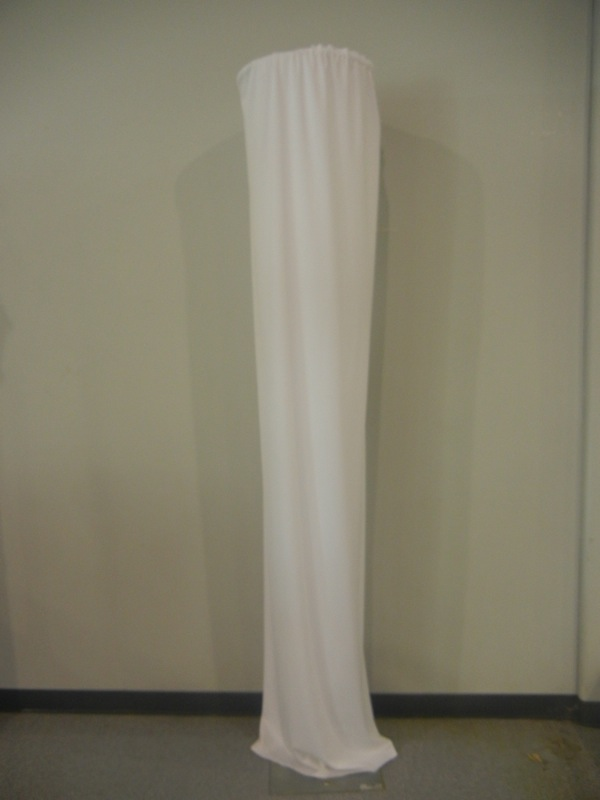 banquet chair covers with sashes office chairs ergonomic fabric column, 12' - uptown rentals