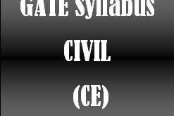 Gate Syllabus CIvil