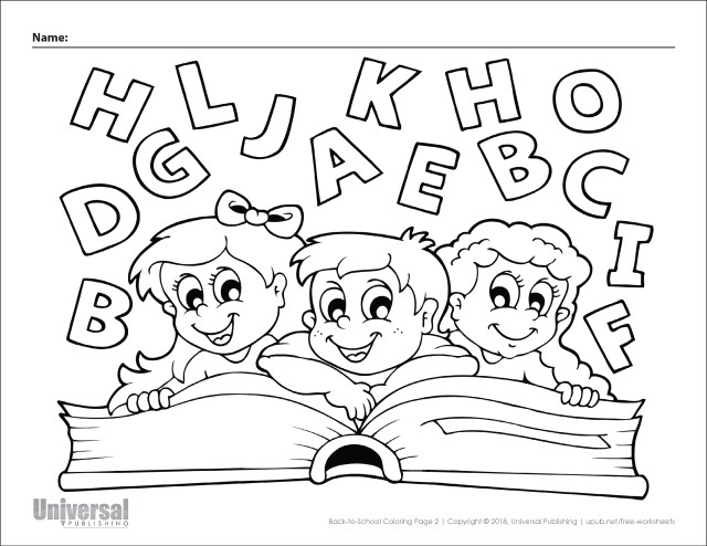 Back to School Coloring Pages  Free Printables - Universal Publishing