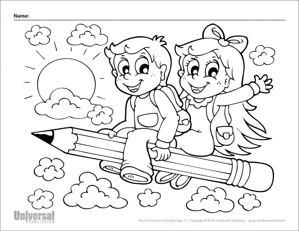 Back To School Coloring Page 3