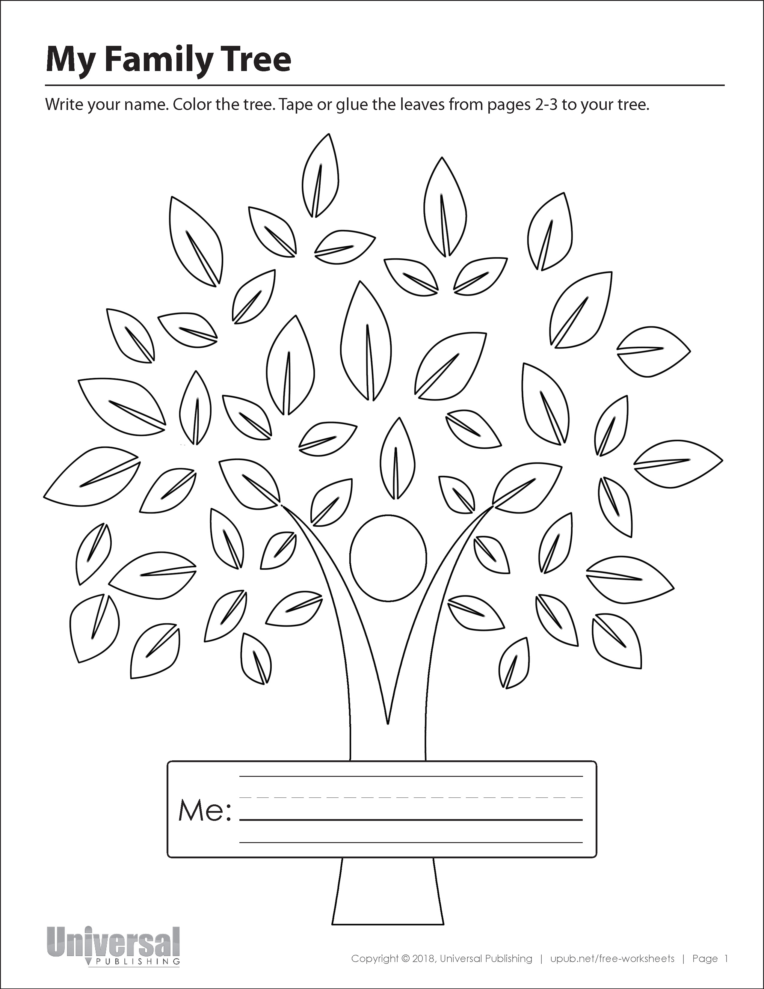 My Family Tree Free Printables