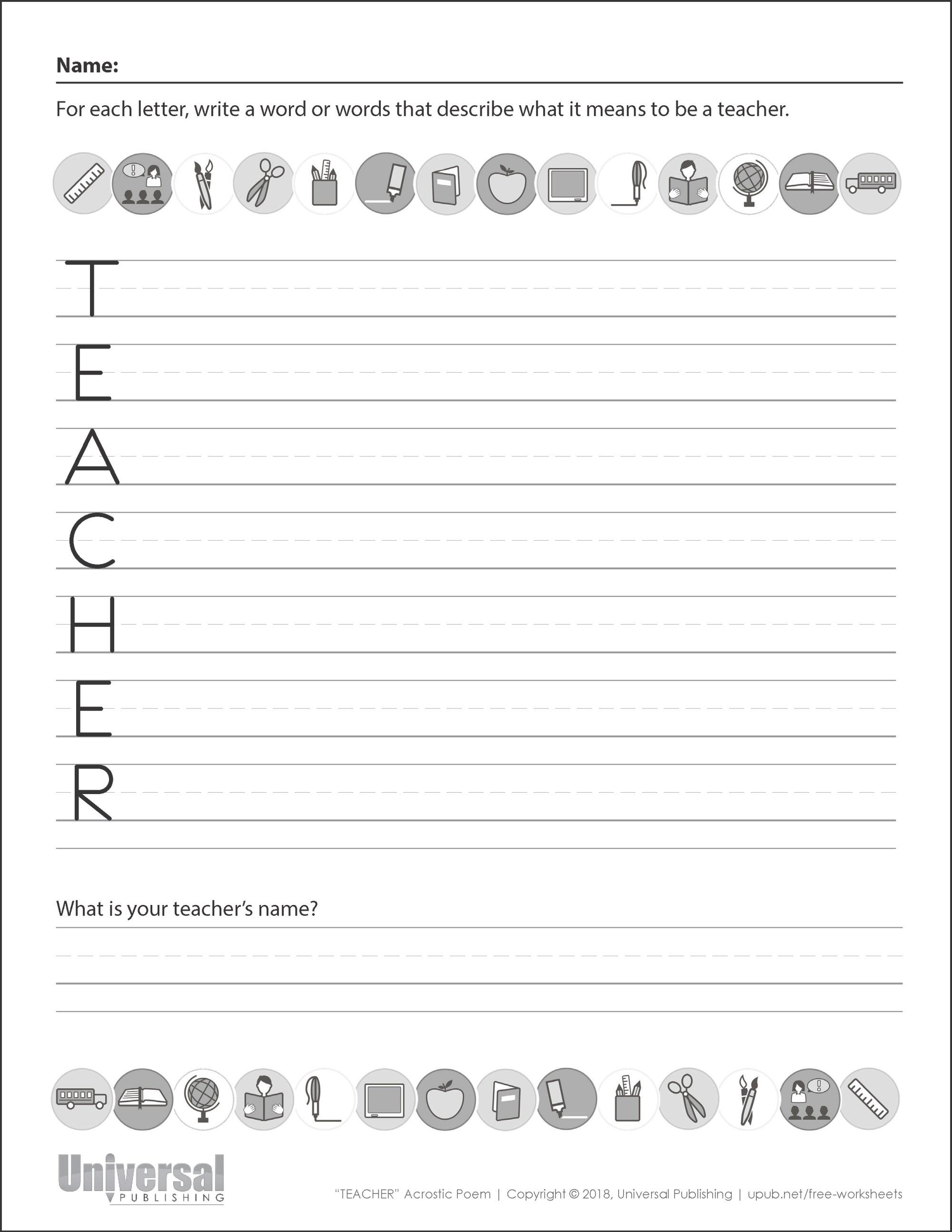 hight resolution of Back to School   Free Printables - Universal Publishing Blog