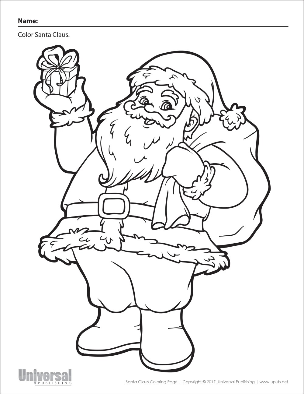 medium resolution of Christmas Coloring Worksheets Kindergarten   Printable Worksheets and  Activities for Teachers