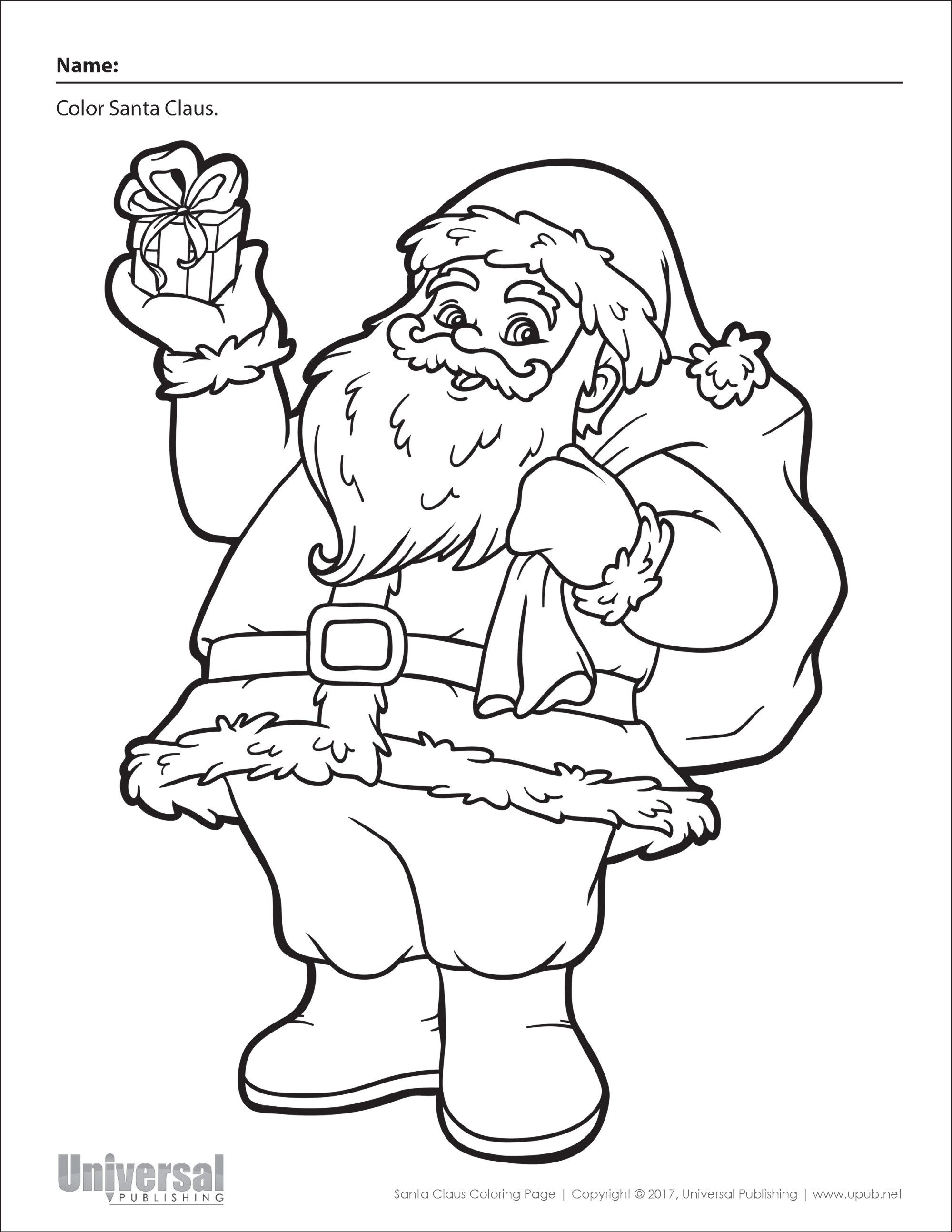 hight resolution of Christmas Coloring Worksheets Kindergarten   Printable Worksheets and  Activities for Teachers
