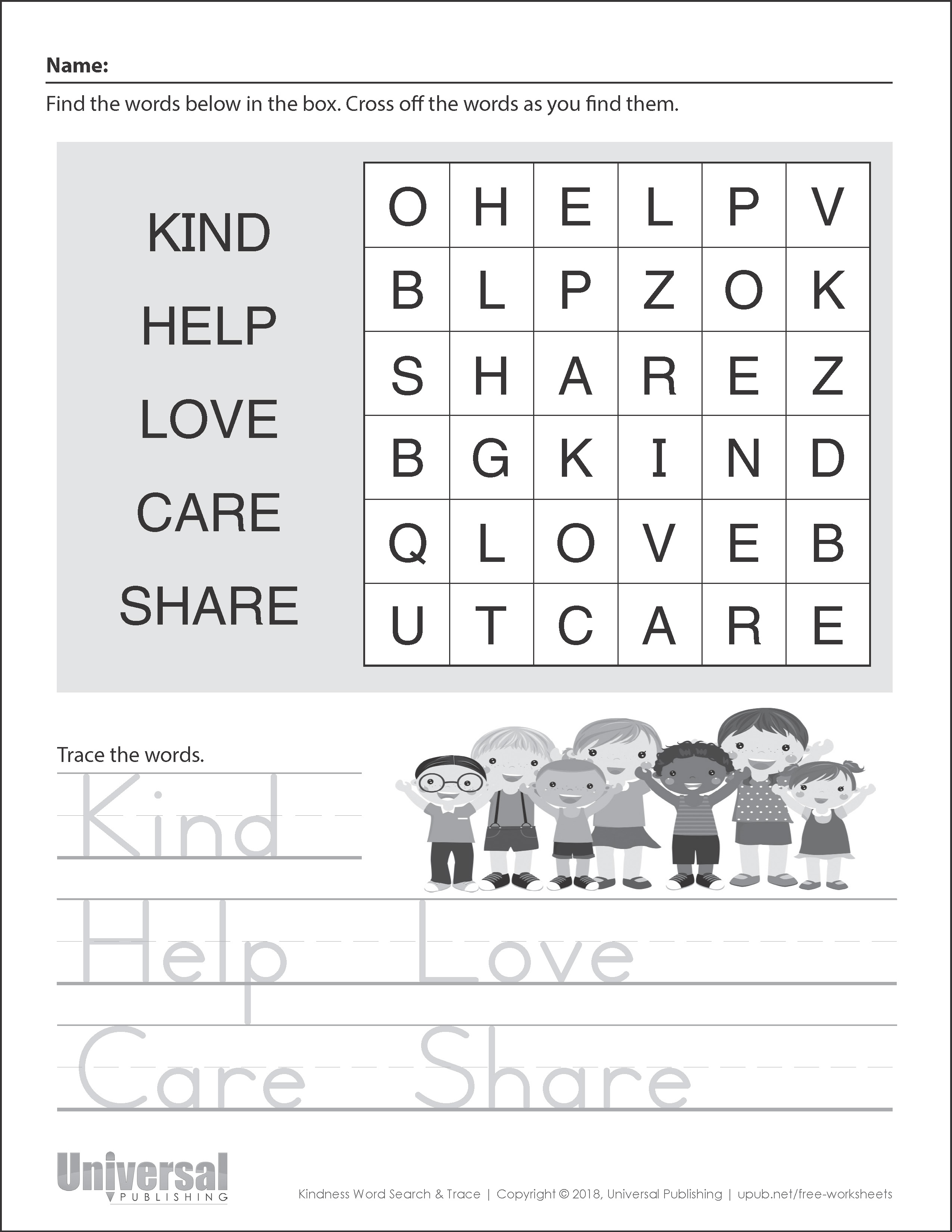 Kindness Activities Free Printables