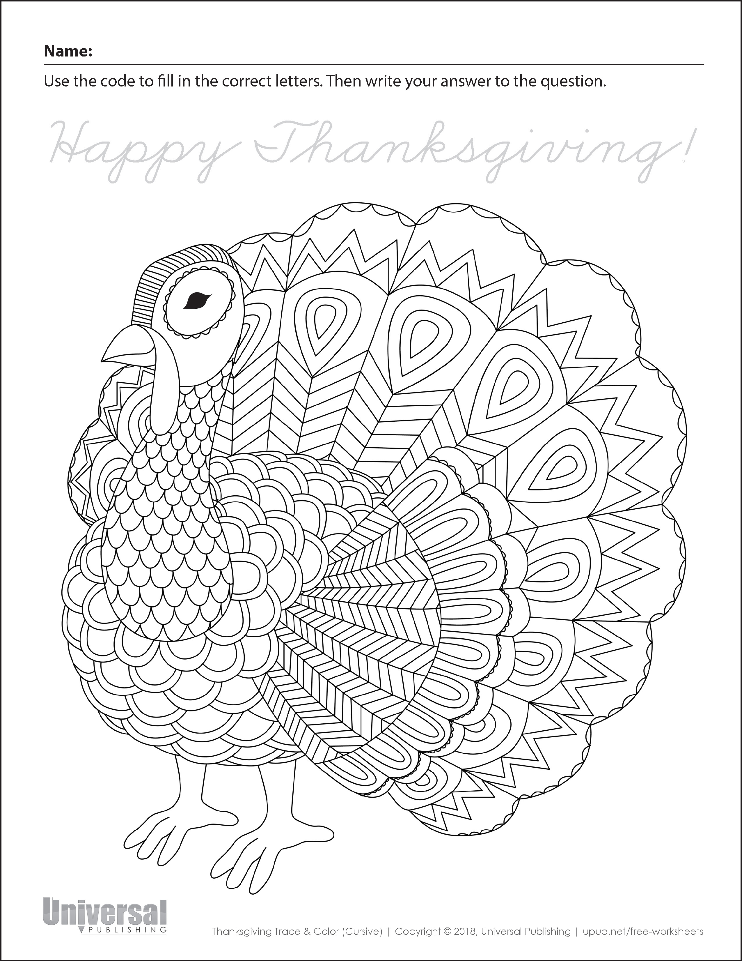 Thanksgiving Activities Free Printables