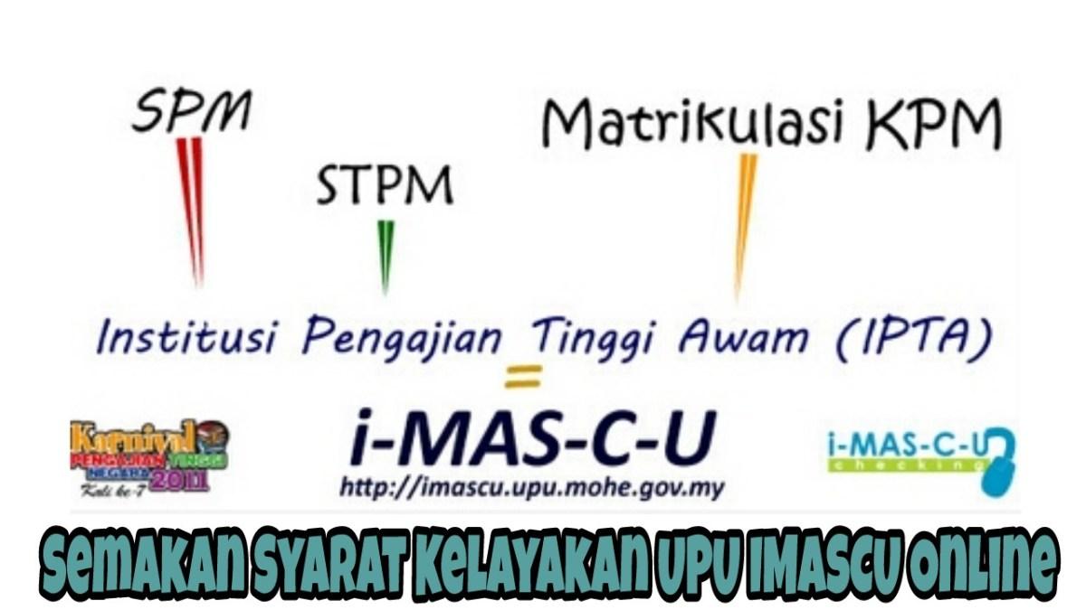 Semakan Syarat Kelayakan UPU IMASCU Online