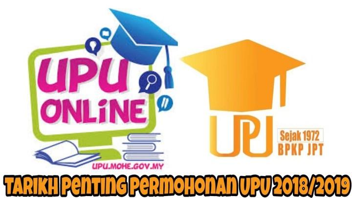 Tarikh Penting Permohonan UPU 2018/2019