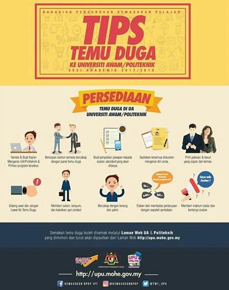 Tips Temuduga ke Universiti Awam/ Politeknik