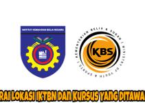 Senarai Lokasi IKTBN dan Kursus Yang Ditawarkan