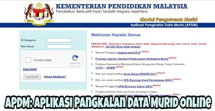 APDM: Aplikasi Pangkalan Data Murid Online