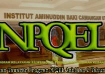 Semakan Tawaran Program NPQEL Ambilan 2 Tahun 2018