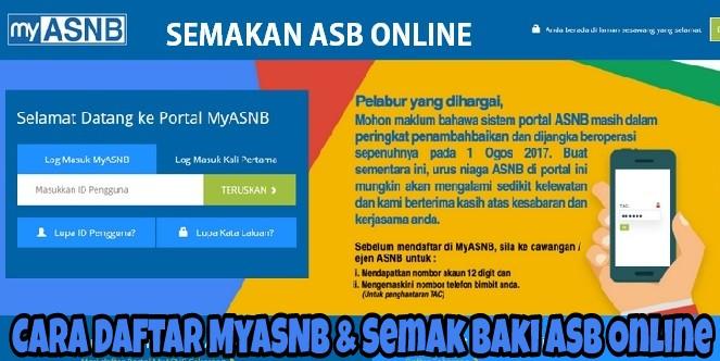 Cara Daftar MyASNB & Semak Baki ASB Online