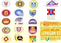 Permohonan Rayuan UPUOnline Lepasan STPM 2018/2019 Online