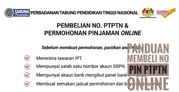 Panduan Membeli No Pin PTPTN Online