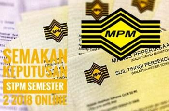 Semakan Keputusan STPM Semester 2 2018 Online
