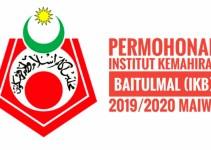 Permohonan Institut Kemahiran Baitulmal (IKB) 2019/2020 MAIWP
