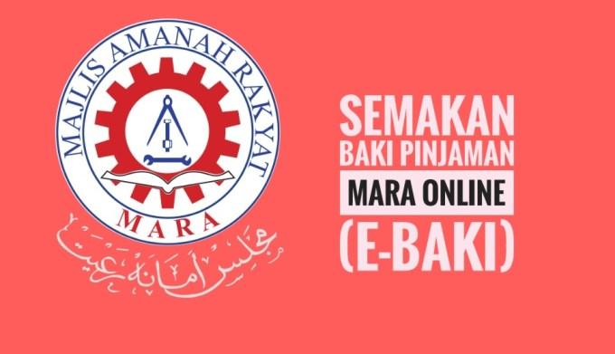 Semakan Baki Pinjaman MARA Online (e-Baki)