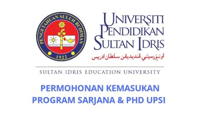 Permohonan Kemasukan Program Sarjana dan Doktor Falsafah UPSI 2019