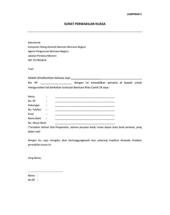 Permohonan Bantuan Khas COVID-19 RM100 Sehari NADMA (Borang)
