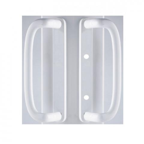 mila inline patio door handle 109mm screw fix blank no euro cut out