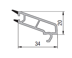 Upvc casement single glass bead profile