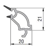 Upvc casement double glass bead profile