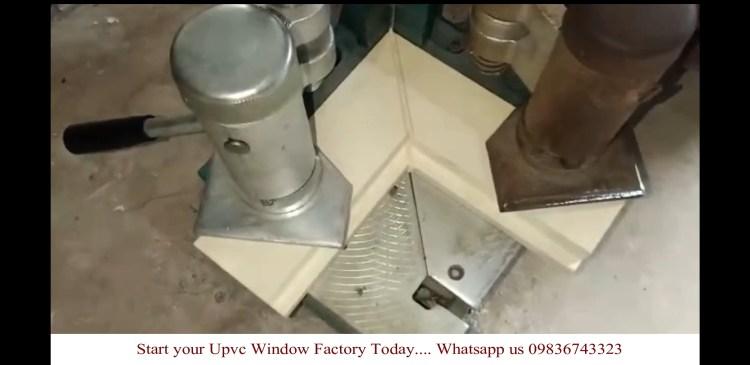Welded upvc profile in SAICON portable upvc machine