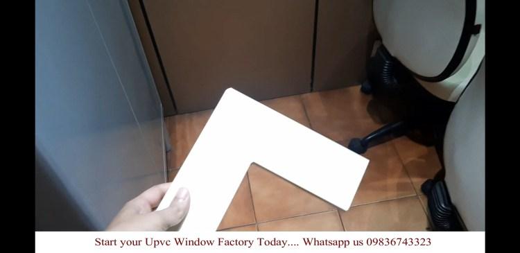 Upvc profile welded using SAICON upvc window machines