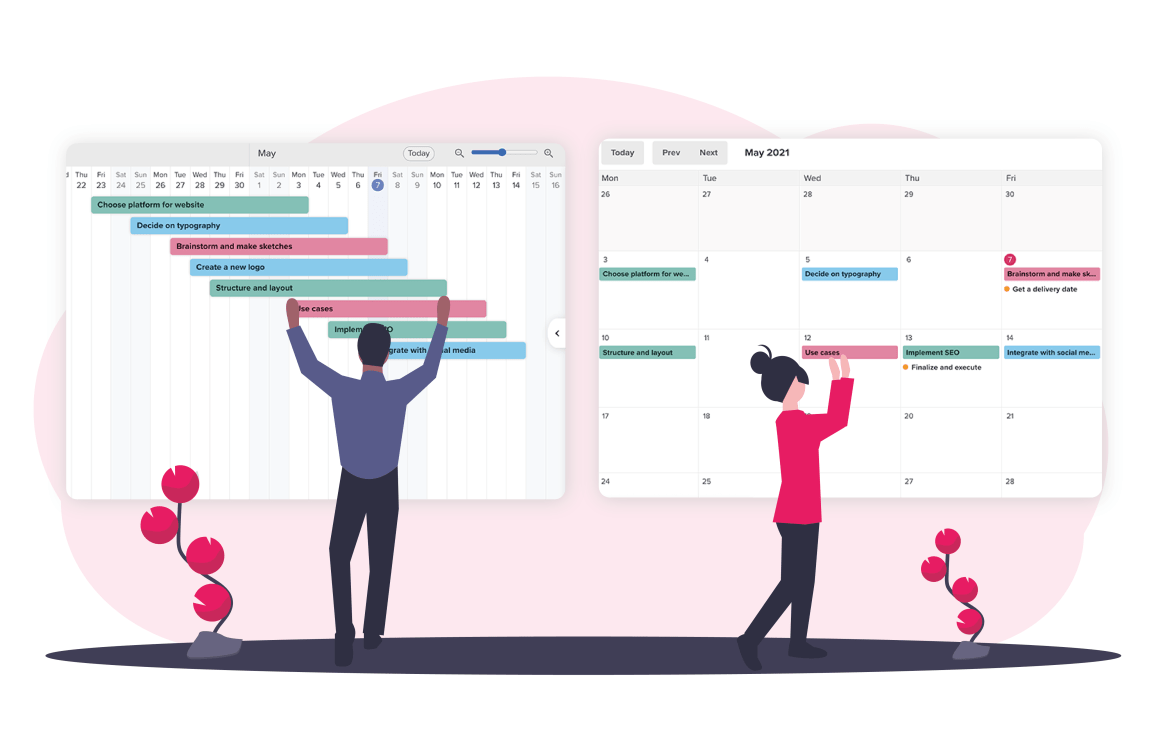 Plan ahead with Timeline and Calendar