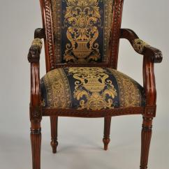 Chair Antique Styles Genuine Leather Executive Upholstered Furniture