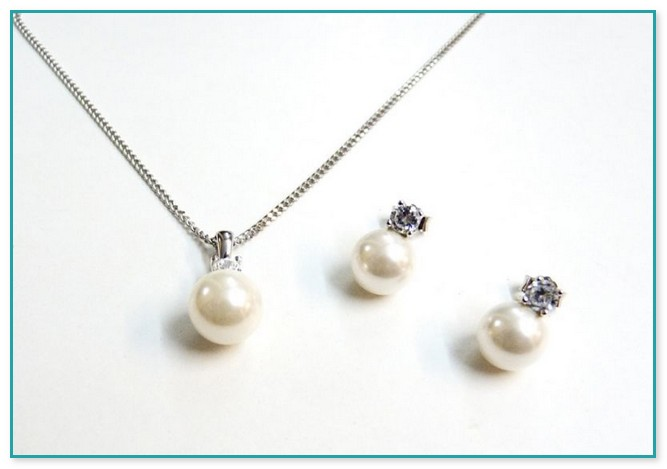 Brautschmuck set mit perlen  Modeschmuck