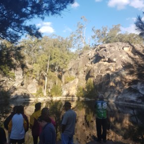 UQ|UP research team at Wakka Wakka Cultural Camp