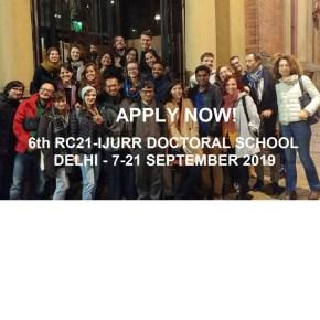 RC21-IJURR Doctoral School in Urban Studies: Applications open