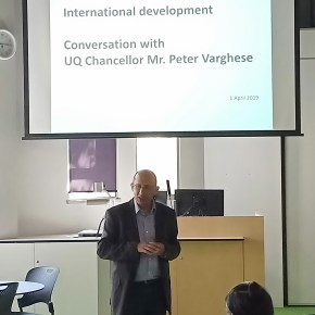 UQ Chancellor Q&A with postgraduate planning students