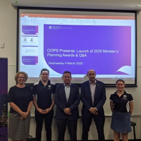 Launching the Minister's Planning Awards at UQ
